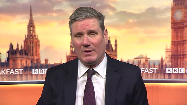 """labour leader keir starmer saying his party supports the government in imposing a national lockdown and that it is now """"mission critical"""" - awe stock videos & royalty-free footage"""
