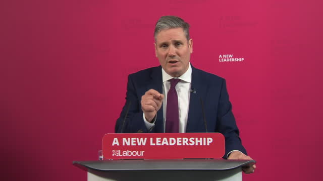 "labour leader keir starmer saying his party will vote in favour of the government's brexit deal, but will ""hold the government to account for it"" - responsibility stock videos & royalty-free footage"