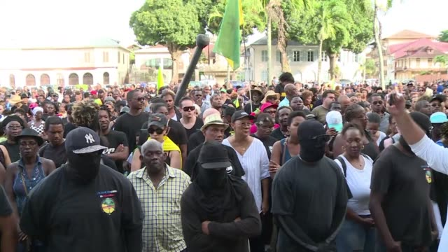 labour leaders behind massive strikes in french guiana call another day of protest action in the south american territory which has been in the grip... - french overseas territory stock videos & royalty-free footage