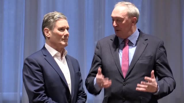 labour leadership candidate sir keir starmer visits union of shop, distributive and allied workers headquarters in wilmslow after the union gave him... - trade union stock videos & royalty-free footage