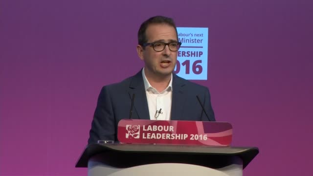 hustings event in glasgow scotland glasgow scottish exhibition and conference centre int labour leadership debate featuring jeremy corbyn mp and owen... - owen smith politician stock videos & royalty-free footage