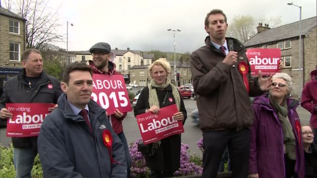 andy burnham criticises the party for small mindedness lib lancashire rawtenstall will straw addressing crowd during election campaign as andy... - party poster stock videos & royalty-free footage