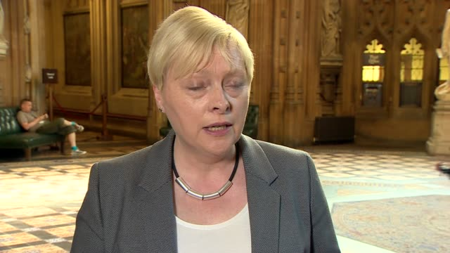 angela eagle drops out of race angela eagle interview england london houses of parliament commons lobby int angela eagle mp inteview sot re her... - owen smith politician stock videos & royalty-free footage