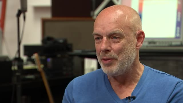 Brian Eno interview ENGLAND London INT Brian Eno interview SOT