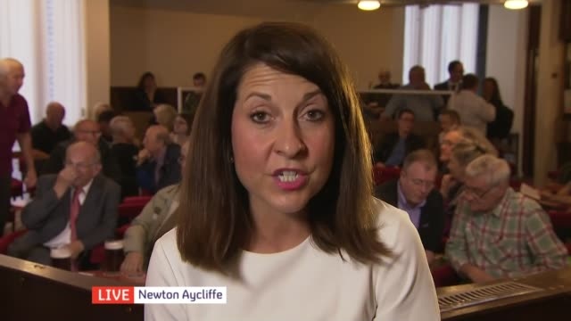 Gordon Brown expected to make speech as rivals issue further warnings ENGLAND County Durham Newton Aycliffe INT Liz Kendall MP interview SOT I'm...