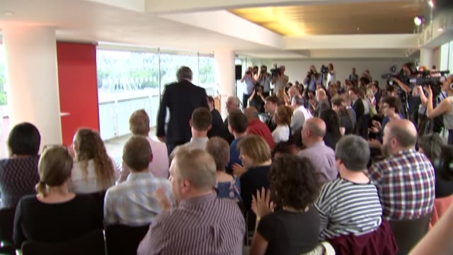 gordon brown speech arrival and cutaways england london southbank ext former labour prime minister gordon brown from car and into southbank centre as... - kathy lette stock videos & royalty-free footage