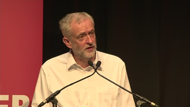 Jeremy Corby speech in Edinburgh Jeremy Corbyn speech SOT Margaret Thatcher's deindustrialisation in the 1980s / how we run our society and do our...