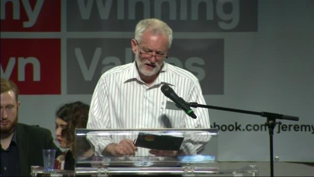 jeremy corbyn addresses rally as sadiq khan gives support to owen smith int corbyn along to podium jeremy corbyn mp speech sot decisons taken top... - owen smith politician stock videos & royalty-free footage