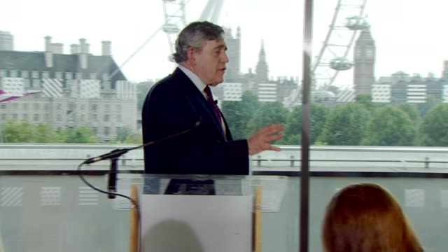 Jeremy Corbyn's backers accused of antisemitic trolling 1682015 ENGLAND London INT Gordon Brown along to podium Gordon Brown speech SOT I have to say...
