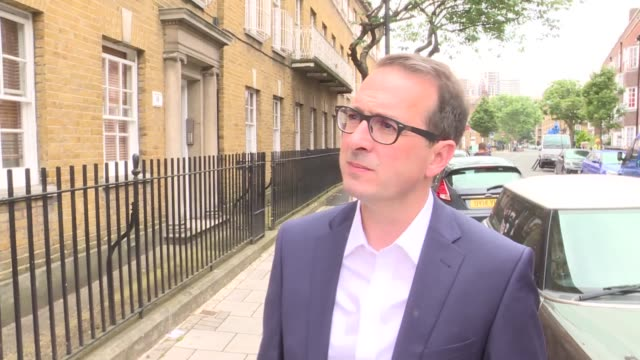 owen smith accuses jeremy corbyn of letting misogyny antisemitism and racism run within the party england london ext owen smith mp doorstep interview... - owen smith politician stock videos & royalty-free footage