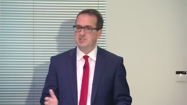 Owen Smith holds first big pitch speech Owen Smith speech continued SOT Theresa May even had the temerity I don't know if you saw it in PMQs to...