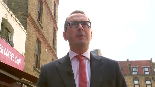 owen smith interview england london east london ext owen smith mp along and greets supporters owen smith mp interview sot - owen smith politician stock videos & royalty-free footage