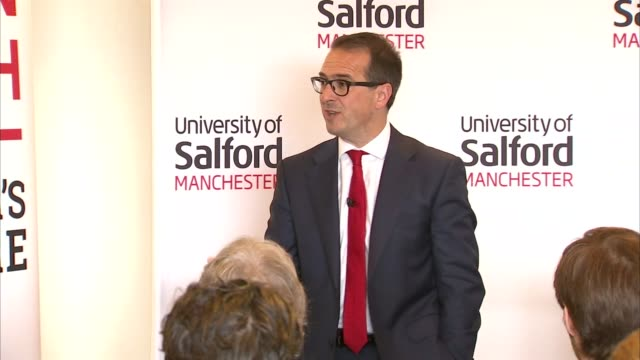 owen smith speech in salford owen smith mp question and answer session sot / cutaways smith speaking sot - owen smith politician stock videos & royalty-free footage