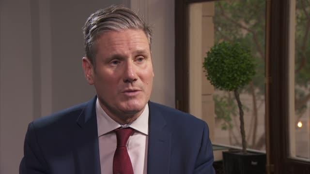 labour leadership contest: sir keir starmer interview; england: london: westminster: int sir keir starmer mp interview sot q: you say a human rights... - politics and government stock videos & royalty-free footage