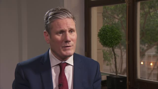 sir keir starmer interview england london westminster int sir keir starmer mp interview sot q favourite to win swept up 59% cop nominations how do... - monopoly chance stock videos & royalty-free footage