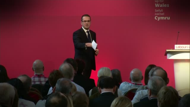 angela eagle launches challenge to jeremy corbyn lib owen smith mp addressing labour event - owen smith politician stock videos & royalty-free footage