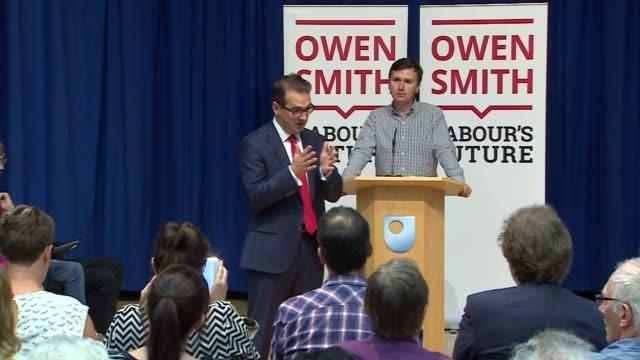 labour leadership election: owen smith speech in milton keynes; owen smith question adn answer sessin continued sot/ ends/ - adn bildbanksvideor och videomaterial från bakom kulisserna