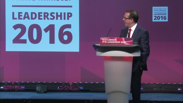 jeremy corbyn and owen smith labour hustings in cardiff int jeremy corbyn mp and owen smith mp along into hall for hustings camera operators and... - owen smith politician stock videos & royalty-free footage