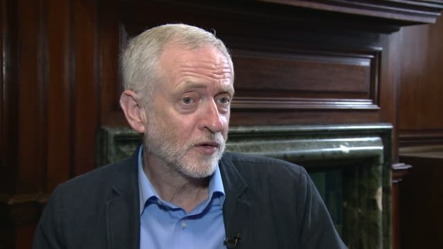 Jeremy Corbyn interview ENGLAND Yorkshire Hull INT Jeremy Corbyn MP interview SOT on splits within Labour party on claims that his continued...