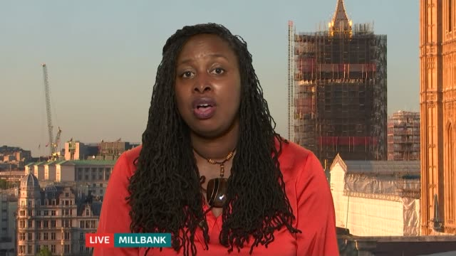 labour mp dawn butler traffic stop: labour mp still waiting to see body cam footage; england: london: westminster: int dawn butler mp live interview... - itv london tonight stock-videos und b-roll-filmmaterial