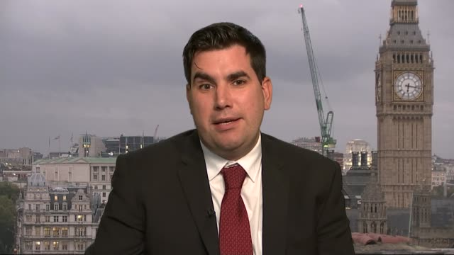 mps vote on charter for budget responsibility england london gir int richard burgon mp 2 way interview from westminster sot - キャシー・ニューマン点の映像素材/bロール