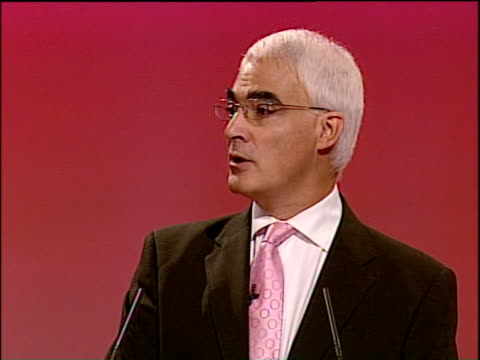 labour party annual conference: alistair darling speech; alistair darling mp speech sot - it's a pleasure to be here as only the second chancellor... - four animals stock videos & royalty-free footage