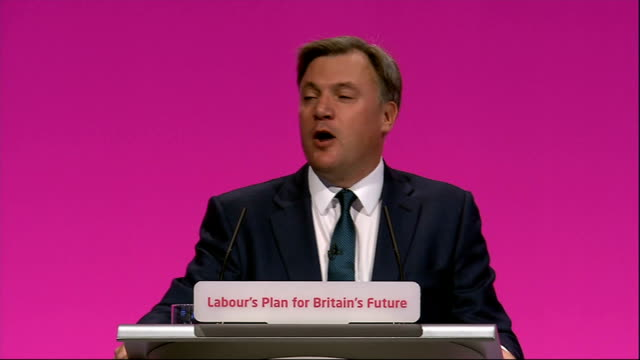 Ed Balls conference speech Ed Balls speech SOT We will keep Britain's corporation tax rates at the lowest in the G7 but instead of another...