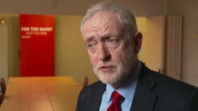 Jeremy Corbyn interview ENGLAND West Midlands Dudley INT Jeremy Corbyn MP interview SOT re antiSemitism in the Labour Party / Royal Smart /...