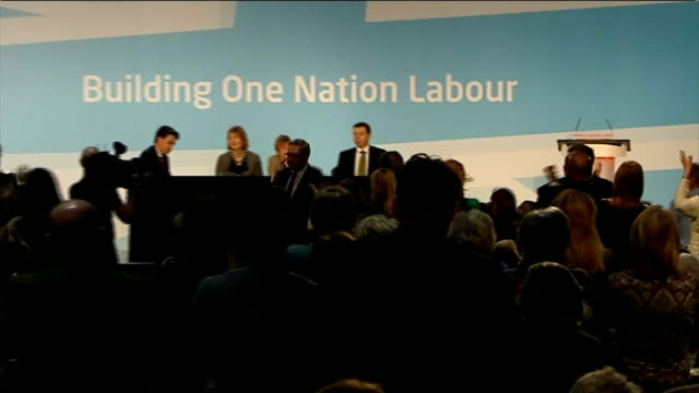 labour party approve reforms to historic union links paul kenny labour shadow cabinet listening len mccluskey speech sot to those elements inside the... - annual general meeting stock videos & royalty-free footage