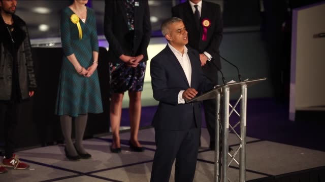 labour party candidate sadiq khan has been elected as the first muslim mayor of london on may 06 2016 in london england sadiq khan the 45yearold son... - sadiq khan stock videos & royalty-free footage
