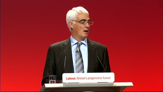 Alistair Darling speech Alistair Darling speech continued SOT we can't ignore deficit/ we had in place tough plans to halve borrowing in four years...