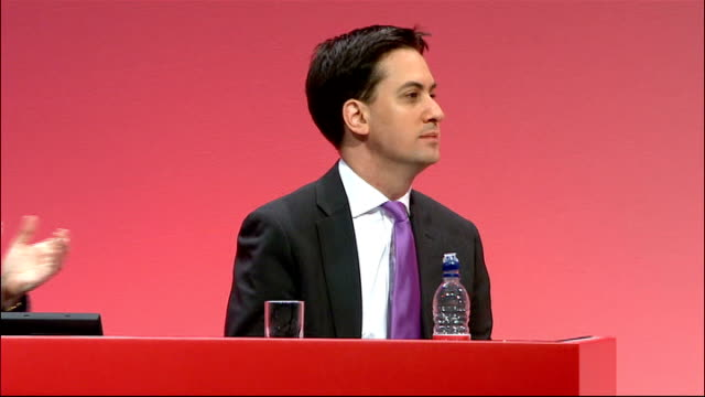 labour party conference 2010: david miliband calls for unity within the party; * * flash photography * * david miliband mp speech sot - i have been... - soap opera stock videos & royalty-free footage