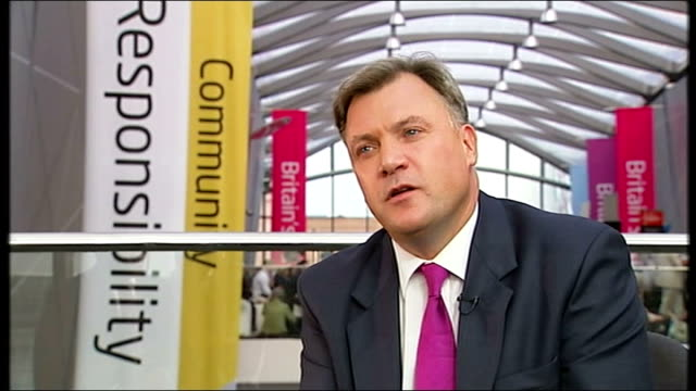 Ed Balls speech ENGLAND Merseyside Liverpool INT Ed Balls MP interview SOT The economy has flatlined unemployment is rising any boost now will...