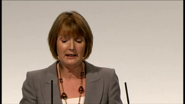 labour party conference 2011: harriet harman speech / end of conference songs; harman speech sot - but there's no doubt whose in the driving seat.... - no doubt band stock videos & royalty-free footage