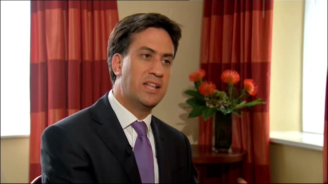 ed miliband interview miliband interview sot other countries like the united states have done better than us over same period we're looking forward... - black history in the us stock videos and b-roll footage