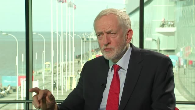 brexit jeremy corbyn interview england merseyside liverpool int jeremy corbyn mp interview sot - jeremy corbyn stock videos and b-roll footage