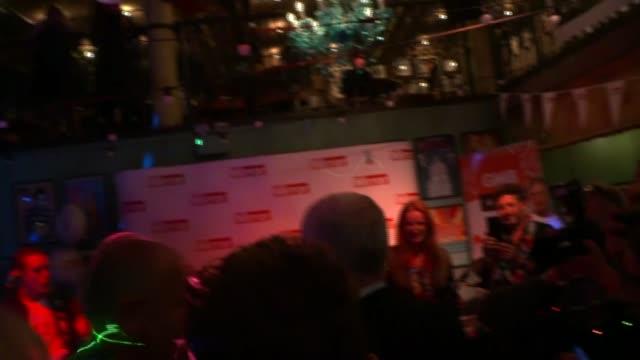 stockvideo's en b-roll-footage met jeremy corbyn attends daily mirror party england liverpool int jeremy corbyn mp into party to music introduction / cutaways of corbyn brief speech... - daily mirror