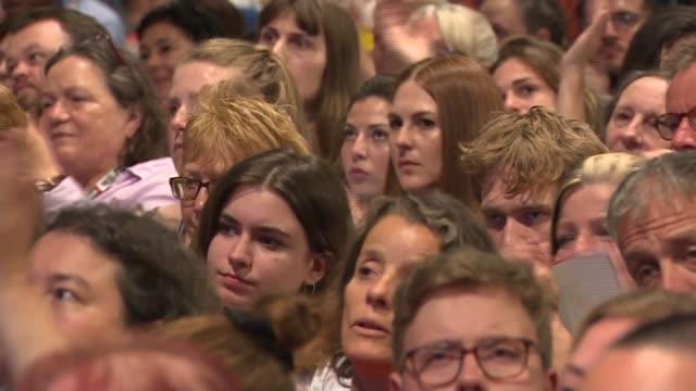 vídeos de stock, filmes e b-roll de jeremy corbyn speech uk brighton labour party leader jeremy corbyn mp speech to 2019 labour party conference england east sussex brighton the... - formato letterbox