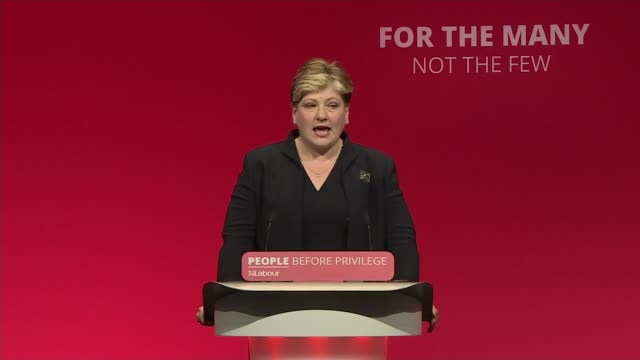 labour conference backs jeremy corbyn's brexit policy uk england brighton various shots of labour party conference simon hannah speech emily... - back stock videos & royalty-free footage