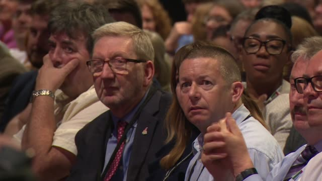 labour party conference 2019: labour delegates vote on three brexit proposals; england: east sussex: brighton: int labour party conference delegate... - labour party stock videos & royalty-free footage