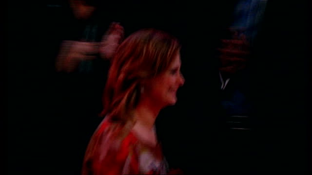 stockvideo's en b-roll-footage met int labour party conference as audience listens to promo photography ** sarah brown along to stage to applause sarah brown speech sot gordon and i... - lesley garrett
