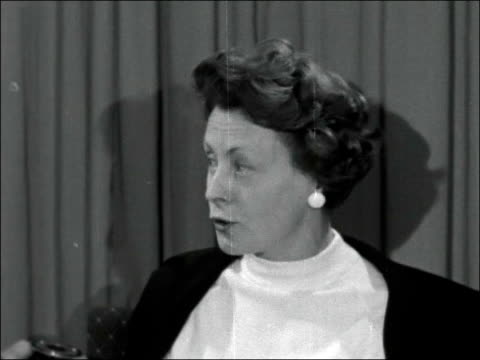 Barbara Castle and Dr Edith Summerskill interviewed ENGLAND Lancashire Blackpool INT Barbara Castle MP interview SOF I have been coming to Labour...