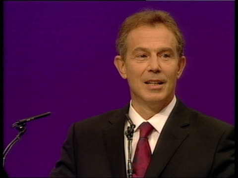 blair speech news at ten nick robinson england dorset bournemouth prime minister tony blair mp along holding hands with wife cherie blair as leading... - cherie charles stock videos & royalty-free footage