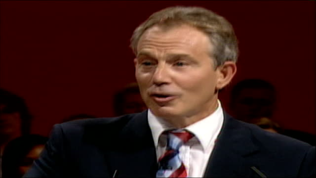 blair speech they know there isn't some fantasy government where nothing difficult ever happens they've got the lib dems for that government isn't... - stepping stone stock videos & royalty-free footage