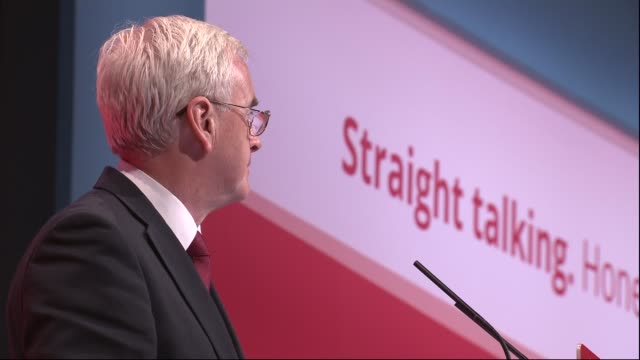 cutaways john mcdonnell speech england east sussex brighton int john mcdonnell mp speech cutaways sot including jeremy corbyn mp and tom watson mp... - east sussex stock videos & royalty-free footage