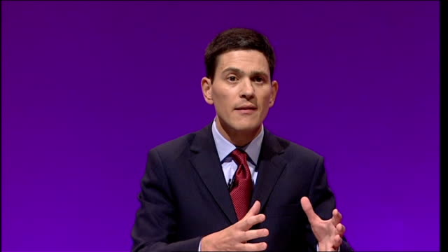 labour party conference: david miliband speech; - it is our belief in democracy that requires us to say that the right people to choose the... - georgia us state stock videos & royalty-free footage