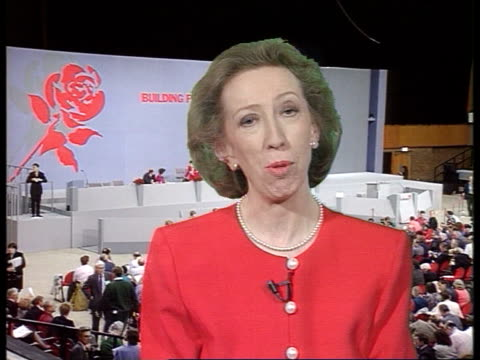 day 2 england sussex brighton cms margaret beckett mp intvwd sot i fully support smith on one member one vote /i hope this will not be misinterpreted... - day 2 stock videos & royalty-free footage
