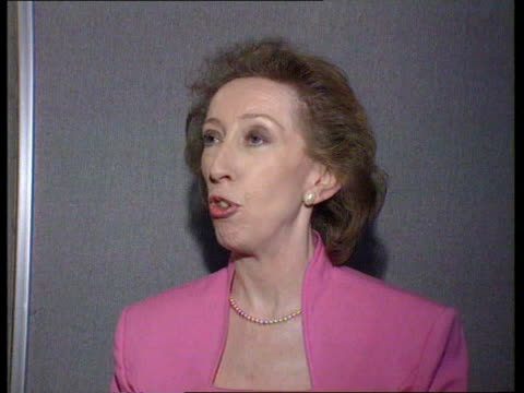 day 4 england sussex brighton ms margaret beckett mp along street surrounded by press pan lr as into building margaret beckett mp intvwd sot john... - mp stock videos & royalty-free footage