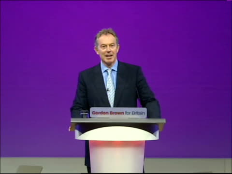 Declaration of Deputy Leadership results / Harriet Harman Gordon Brown and Tony Blair speeches Mike Griffiths speaking to conference SOT Introduces...