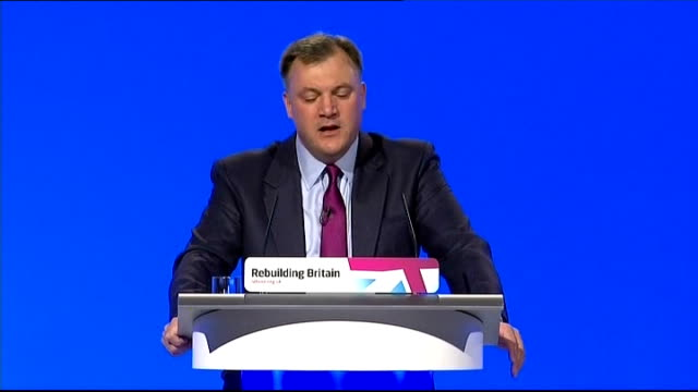 ed balls speech pledging thousands of new homes int photography*** ed balls mp speech sot in good times labour used every penny of the 22 billion... - 3g stock videos & royalty-free footage
